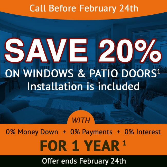 february replacement window sale virginia